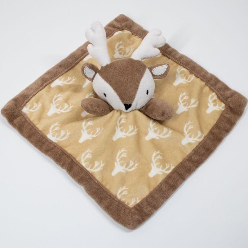 Levtex Baby Deer Lovey Security Blanket Teether Baby Plush Lovie Brown Minky