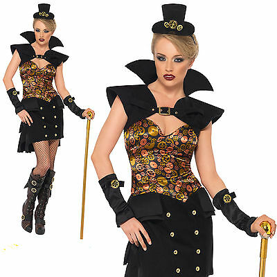 Steam Punk Outfit (Ladies Steam Punk Victorian Sexy Vampiress Vampire dressing up costume outfit)