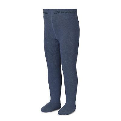 Sterntaler Kinder Thermostrumpfhose Frottee warme Komfortstrumpfhose blau silber