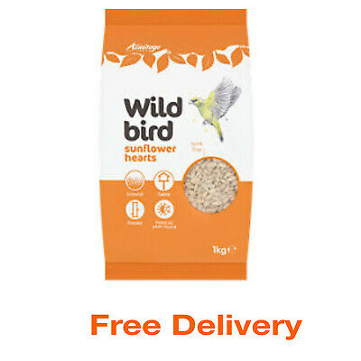 Bird  Food Sunflower Seed Hearts Feed Garden Feeders Outdoor Wildlife Wild 1KG