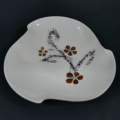 Vintage Bovano Handcrafted Copper Enameled Art ~ Mid Century Serving Bowl / Dish