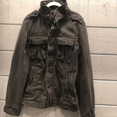 ABERCROMBIE & FITCH Men's Small SENTINEL Jacket Utility Army Dark Gray/Green