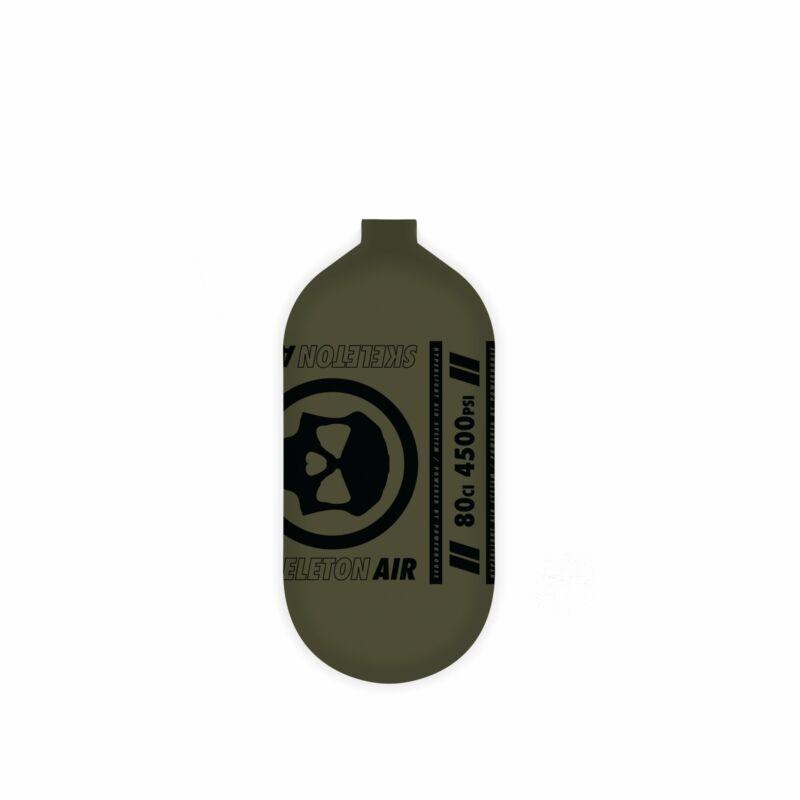INFAMOUS AIR Hyperlight Paintball Tank - BOTTLE ONLY - Olive/Black - 80CI / 4500