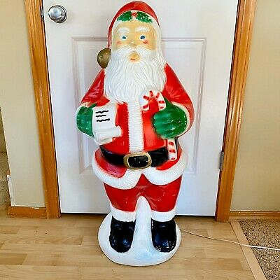 Vintage Santa Claus Blow Mold Christmas Lighted Outdoor Yard Decor Santa 38""