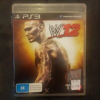 💪 W12 (WWE 2012) || Sony PS3/PlayStation 3 || Includes Manual || Free Postage comprar usado  Enviando para Brazil