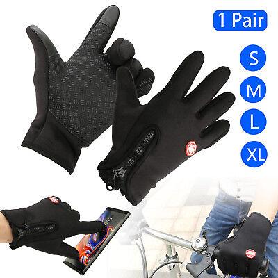(-30℃ Ski Gloves Zipper Winter Sports Thermal Touch Waterproof Snowboard Skiing)