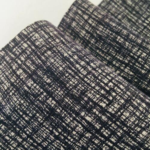 Graphite Mystery #C 6.5x48 Tsumugi Silk Japanese Kimono Fabric Panel TD7