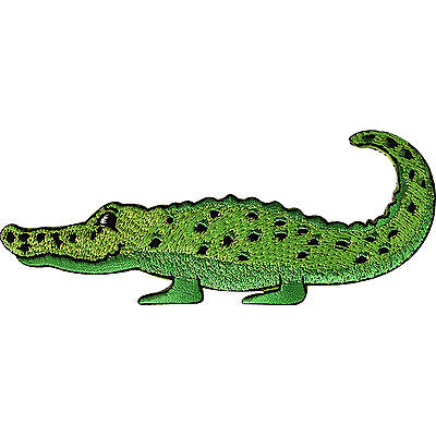 Alligator Crocodile Patch Iron Sew On Clothes Embroidered Badge Animal Applique