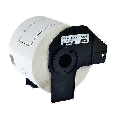 50roll Dk1202 62mm Address Labels 300 Labels For Brother Ql-1110nwb W50 Frame