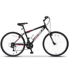Buy and sell 26'' Mountain Bike Hybrid Bike 18 Speed Front Suspension Shimano Bicycles Black near me