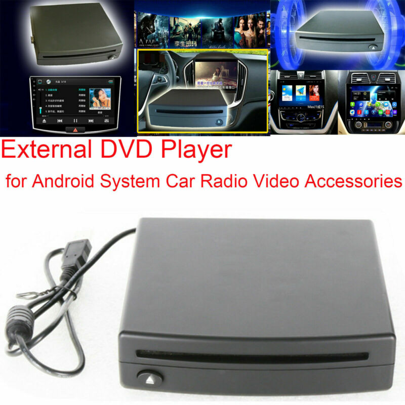 External DVD Player USB CD Read Disc Player for Android System Car Radio Video