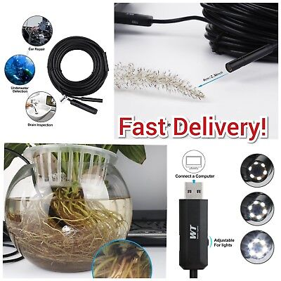 Pipe Inspection Camera Hd 720p Usb Endoscope Video Sewer Drain Waterproof 50ft
