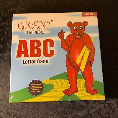 Grant the Red Bear ABC Letter Game NEW Children's Learning Board Game Ages 3-5
