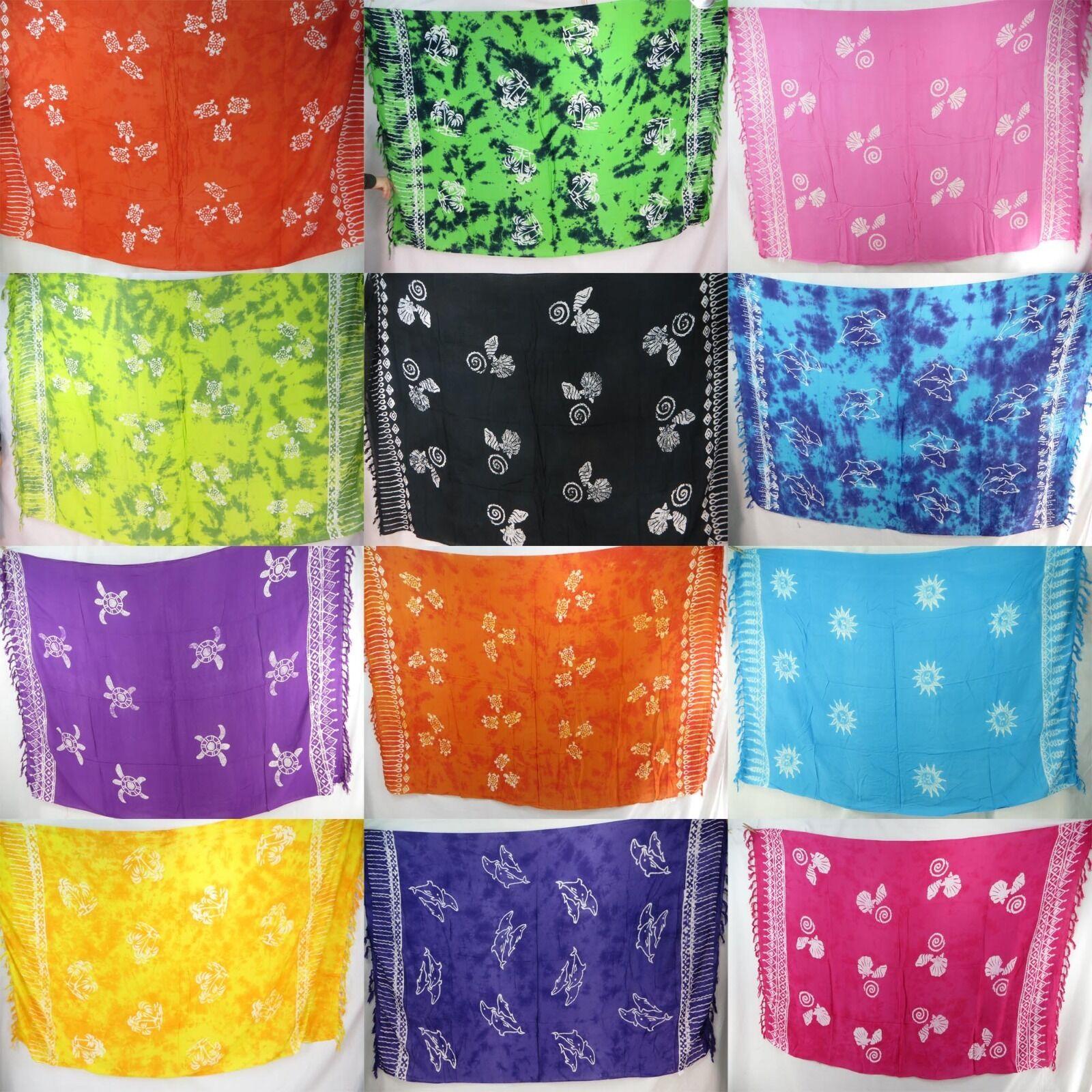 5pcs Bali Rayon Sarong Bulk Wholesale Hippie Clothing Par...