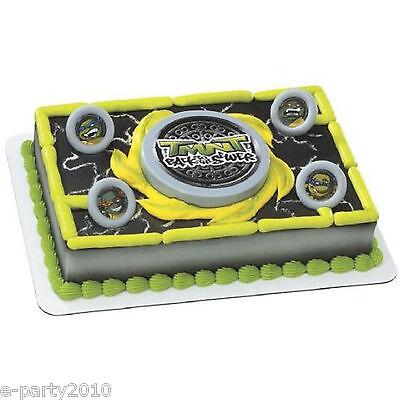 Ninja Turtle Birthday Cake Toppers (TEENAGE MUTANT NINJA TURTLES DISC LAUNCHER CAKE TOPPER ~ VTG Birthday)