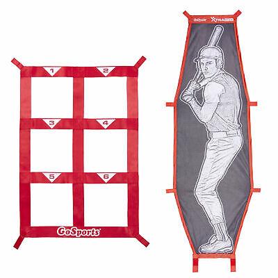 GoSports Xtraman Batter Target & Strike Zone Baseball & Softball Pitching Kit