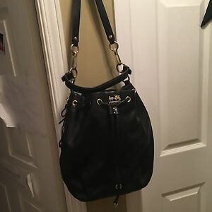 Beautiful Black Leather Authentic Coach Bag