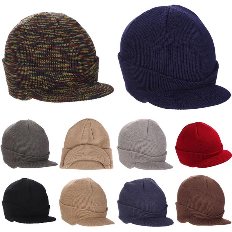 New Unisex Knitted Slouch Beanie Skateboard Hat Winter Warm