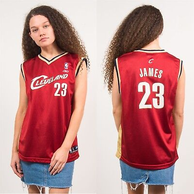08038c78984c CLEVELAND CAVALIERS BASKETBALL VEST NBA RED REEBOK LEBRON JAMES SPORTS 10 12