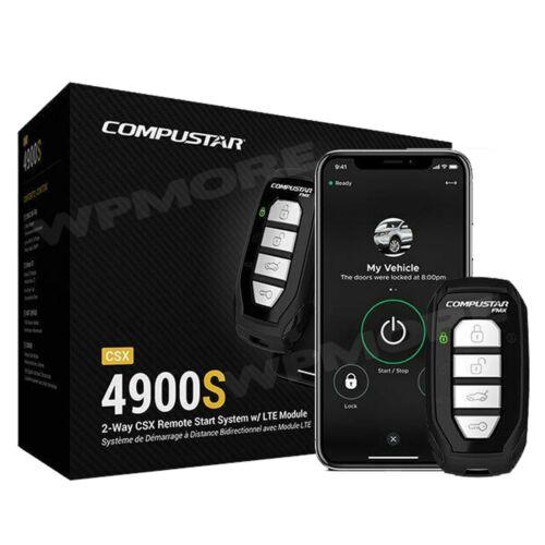 Compustar CSX4900-S 2-Way LED Remote + Drone Mobile DR-X1 LTE Smartphone Control