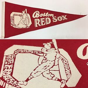 1960-039-s-Vintage-Boston-Red-Sox-Massachusetts-5x12-Mini-Pennant-MLB-Baseball