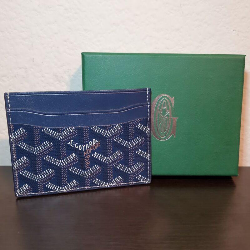 Goyard Card Holder Wallet Navy Blue