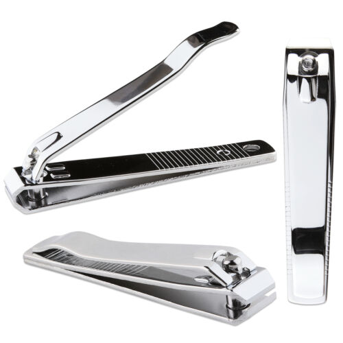 3pcs Beauticom Professional Stainless Steel Toe Nail Clippers Straight Cut Style