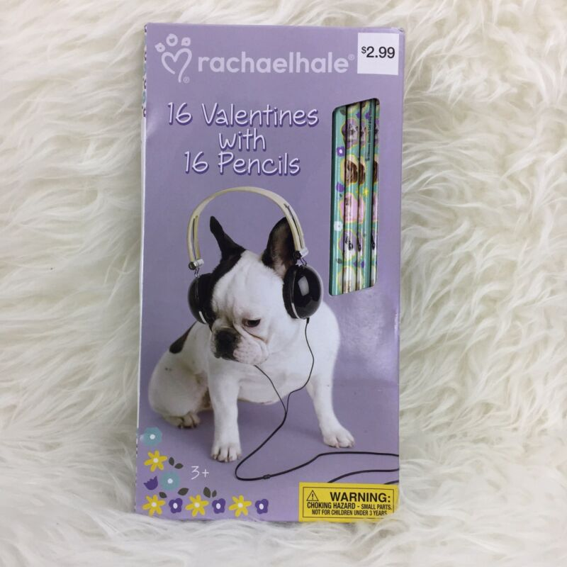 Cute Puppy & Kitty Valentines 16 Cards with 16 Pencils Ages 3+ NEW IN BOX