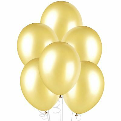 25 High Quality GOLD LATEX BALLOONS party 12