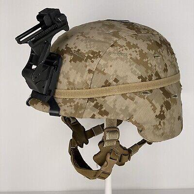 Large USMC Marine Corps Lightweight Helmet LWH MARPAT Combat Ballistic Norotos Marine Corps Helmet