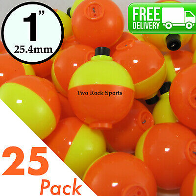 """25 PACK COMAL TACKLE Round Weighted Snap On Floats Rigging Lures Fishing 1.75/"""""""