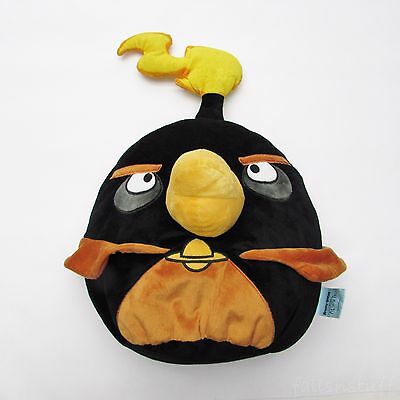 """Angry Birds in Space Bomb Plush Doll, Black & Orange Flame - LARGE! 18"""" Pillow"""