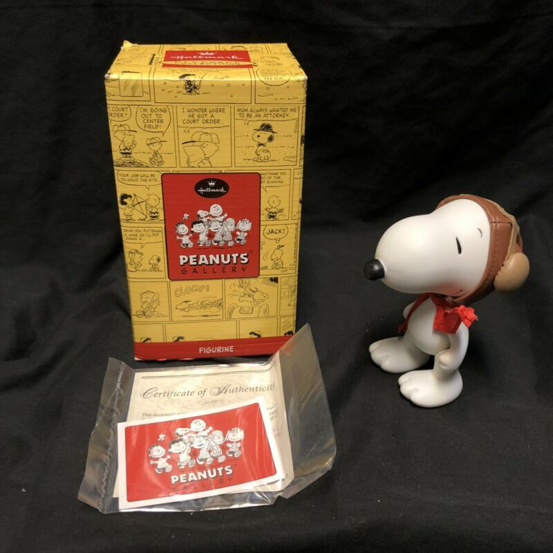 Hallmark Snoopy Flying Ace Figurine Peanuts Gallery