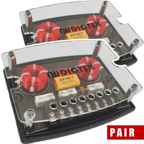 Audiotek 600W CX4 2 Way 4 Ohm Car Audio Passive Crossover Networks (2 Pack)