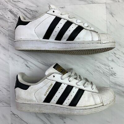 Adidas superstar Shoes sneakers  Gold Black White               Size 6.5.    -H4