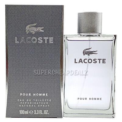 Lacoste Pour Homme 3.3 oz Eau de Toilette Spray for Men NIB Authentic