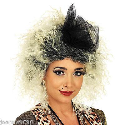 Eighties Wig (80s Eighties Pop Star Madonna Wild Child Bow Wig Fancy Dress Costume)