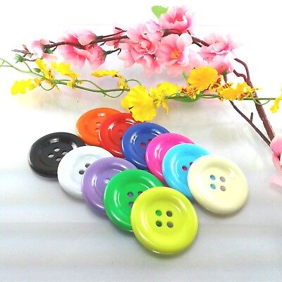Big plastic sewing button overcoat lots buttons appliques, 50 mm 2