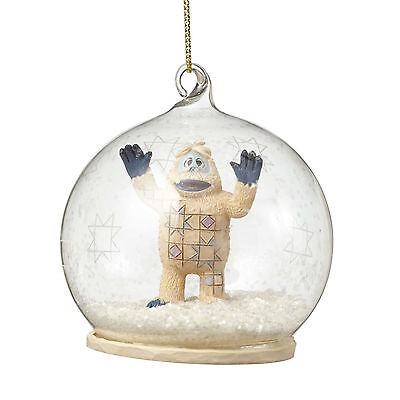 Jim Shore*BUMBLE GLASS DOME ORNAMENT*New*NIB*Rudolph Red Nosed Reindeer*4053081