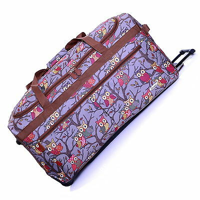 "Extra Light Large 27"" Wheeled Travel Trolley Suitcase Luggage Holdall Case Bag"