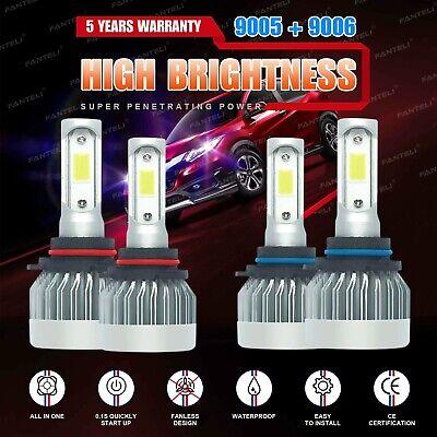 9005+9006 6000K 3920W 588000LM Combo CREE LED Headlight Kit High Low Lamp Bulbs