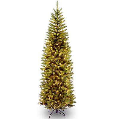 National Tree Company 7.5' prelit Kingswood Fir Pencil Artificial Christmas (Kingswood Fir Pencil Pre Lit Christmas Tree)