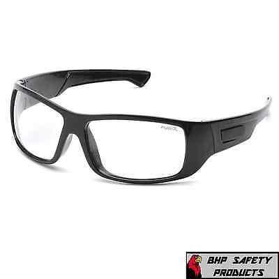 SAFETY GLASSES CLEAR ANTI-FOG LENS BLACK FRAME PYRAMEX FURIX SB8510DT (1 PAIR)