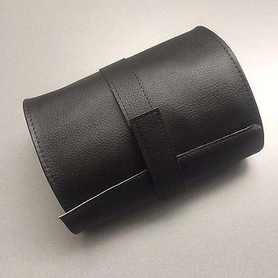 Brillenrolle Allzweckrolle  schwarz Kunstleder mit Klettverschluss