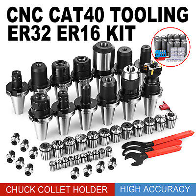 Cat40 Tooling Kit For Haas Fadal Cnc Mill Er3216 Chuck Collet Holder