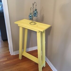Rustic Yellow Table