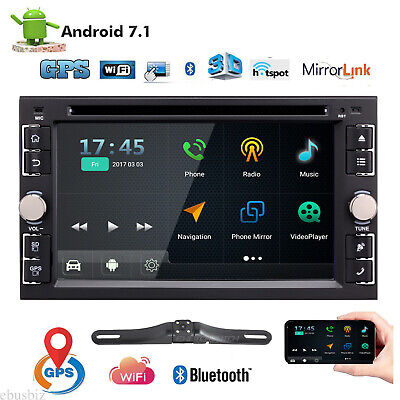 "6.2"" 2 Din Android Car Radio Stereo DVD Player GPS Nav 1080P BT 4G WiFi + Camera"