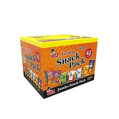 Utz Jumbo Variety Box 42 Individual Snack Pack Potato Chips Popcorn Cheese Curls