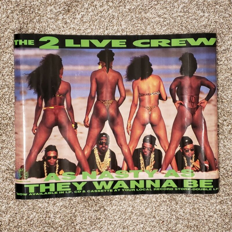 Vintage Rare 2 Live Crew As Nasty As They Wanna Be Poster Luke Skyywalker