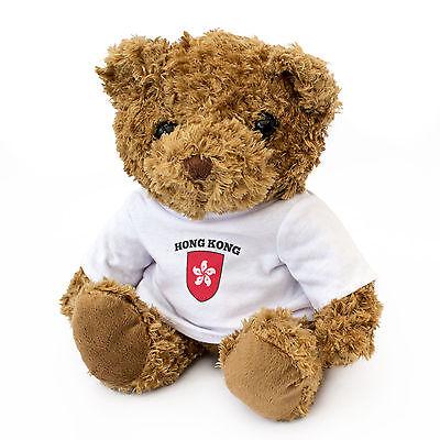 Neu - Hong Kong Flagge - Teddybär - Süß und Kuschelig - Geschenk